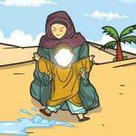 جاری شدن آب از زیر پای حضرت اسماعیل علیه السلام